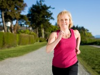mature woman running Exercise may help improve memory problems
