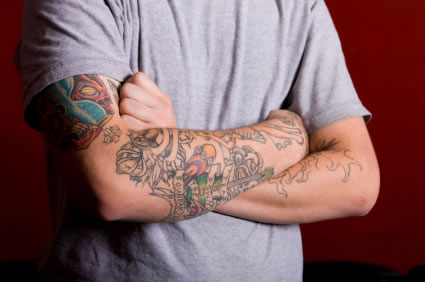 tattooed arms Tattoos are a mark of low self esteem