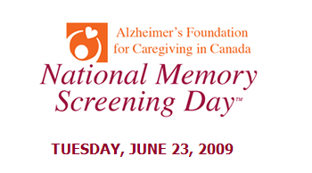 alzheimers memory screening day National Memory Screening Day: June 23,2009