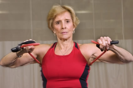 senior woman exercising Why exercise slows memory loss in Alzheimer's