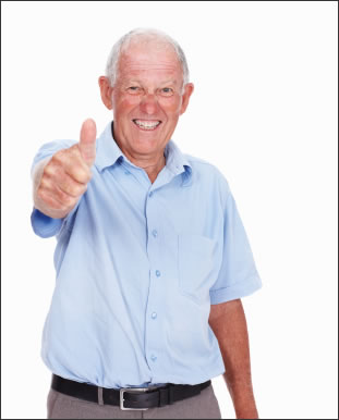 Thumbs up 70 year olds can be as fast as 25 year olds in some brain tasks