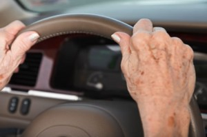 older driver hands 300x199 Older Drivers Can be Trained to Avoid Car Crashes