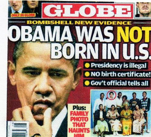 Obama not born in US